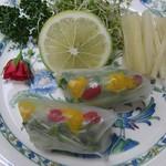 心々亭茶寮 - 薬膳すずらんコースの生春巻きサラダ仕立て