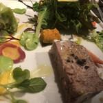 普段着ワイン酒場GETABAKI - 長崎県産猪のテリーヌサラダ仕立て