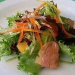 パパス&ママス - パパス&ママス 鴨肉と有機野菜のサラダ