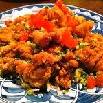 カラパナ - 揚げ鶏のネギ正油かけ 800円