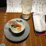 旬魚季菜 一滴 - お通し¥500