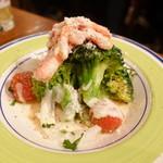 鎗屋町 134 - 湯であげブロッコリーと紅ずわい蟹で温シーザーサラダ