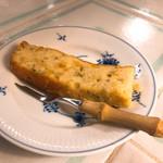 てだこ亭 - トウモロコシとアオサのケーキ
