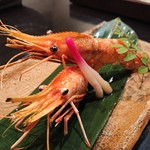 禅紫 - ボタン海老塩焼き