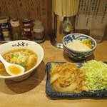 らーめんとしょうが焼き あの小宮  - 生姜焼き(醤油)+ミニラーメン(醤油)