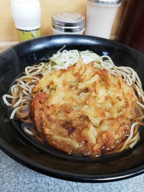 駅そば 道中そば 五反田店 - かき揚げそば¥390
