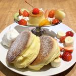 福カフェ - ★プリンアラモードパンケーキ(税込1,450円)