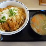 かつや - かつ丼(竹)とん汁