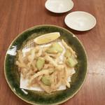 蕎麦 たじま - 白魚と空豆の天ぷら