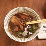 蕎麦 たじま - 牡蠣そば(冷)