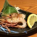 魚鮮水産 三代目網元 - ぼたん海老の刺身(2019.3.15)