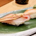 梅丘寿司の美登利 - ▲生ズワイガニ