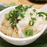 梅丘寿司の美登利 - ▲蟹三貫の蟹味噌小鉢