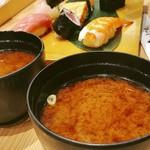 梅丘寿司の美登利 - ▲蟹味噌は無料サービスでお代わりも無料