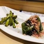 築地寿司清 - 焼き物 野菜