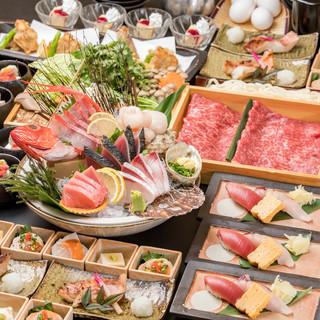 海鮮屋自慢の新鮮魚介!各種宴会に最適な飲み放題付きコース!