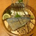 魚民 - 長崎県産・炙り〆鯖の2種盛り