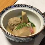 草津温泉 望雲 - 春芋揚煮、地鶏つみれ 上品な味付け
