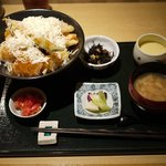 活イカ料理 いっか - いかと夏野菜の和風カレー天丼