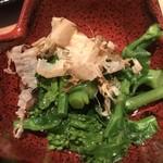 旨い魚と旨い酒 海老の世界 - 菜の花のおひたし
