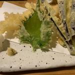 蕎麦切り 春のすけ - 天ぷら(天セイロ)