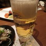 浅草橋 個室居酒屋 魚虎 - ドリンク写真:キリン 一番搾り(お替り)