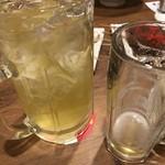 103806442 - メガハイは二倍の価格で量は三倍とあります。                       アルコールが少ないのかなかなか酔いません。