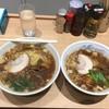 ふぢの - 料理写真:ラーメン+麺大盛とラーメン並盛