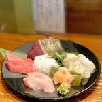 竹政 - 料理写真:お造り五点盛合せ(3,560円)
