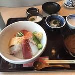 鮨 さもん - どんぶりセット(海鮮丼)=1000円