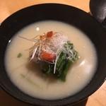 赤坂ジパング - 白味噌仕立てのお椀  ダシは何だ?って感じ