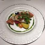 103836917 - アオリイカと炙り野菜のサラダ