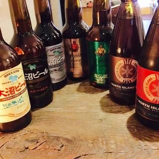 北海道クラフトビール、蕎麦屋ならではの料理とヘルシーな酒肴