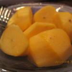 スナック メイプル - 生ハムに甘い柿は相性が良い