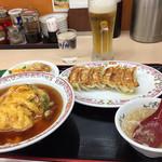 餃子の王将 - ビールとNo. 1セット