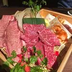 ベこ亭 - ロース、特上牛たん、丸腸、ギアラ、レバー