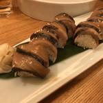 銀座 魚ばか - 鰆漬けの棒鮨 とても美味かった