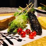 オリーブ - 季節野菜の串アヒージョ