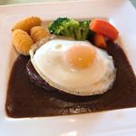 東筑波カントリークラブ レストラン - 【2019年01月】東筑波のデミグラスハンバーグ、アップ。