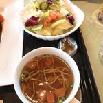 東筑波カントリークラブ レストラン - 【2019年01月】東筑波のデミグラスハンバーグ、サイド。
