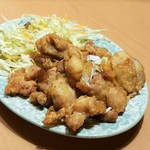 鴻運楼 - 鶏肉衣揚げ唐辛子炒め