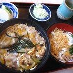 更科 - 料理写真:開化丼セット