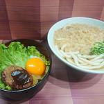 山陽そば - ロコモコ丼セット 500円(税込)