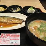 宮本むなし - 料理写真:・サバの味噌煮定食+豚汁