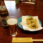 梅屋 - ふきのとうの天ぷらで乾杯