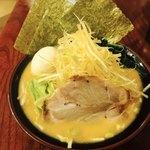 壱まる家 - 味噌ネギラーメン+味玉