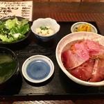 103863278 - 三色漬け丼定食(700円)