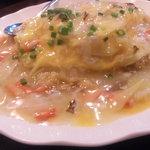 上海麺餃王 - カニあんかけ炒飯 680円