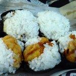 天むすびの多香野 - 料理写真:上段牛肉しぐれ、貝のしぐれ、下段天むす