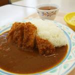 福岡県庁食堂 - カツカレー480円。